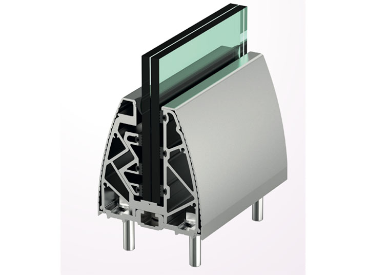 sistema supporto in vetro