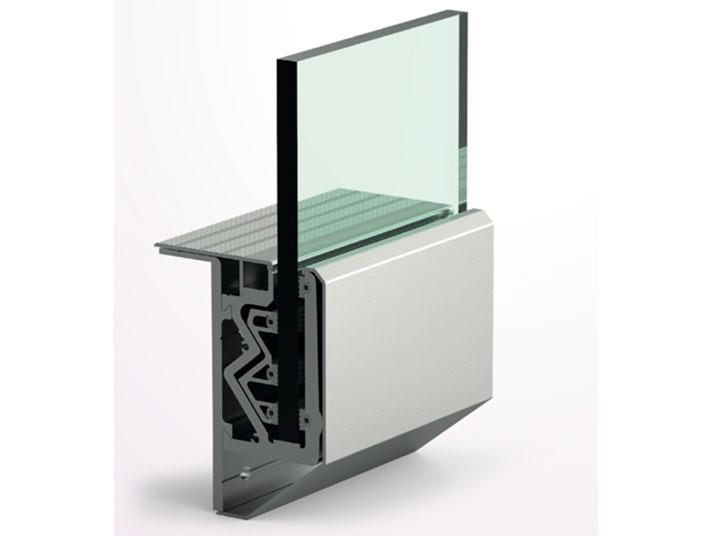 sistema supporto vetro ringhiera
