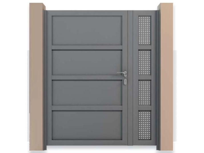 cancello alluminio policarbonato