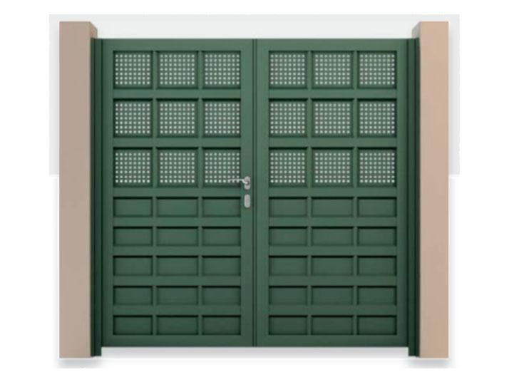 cancello alluminio verde