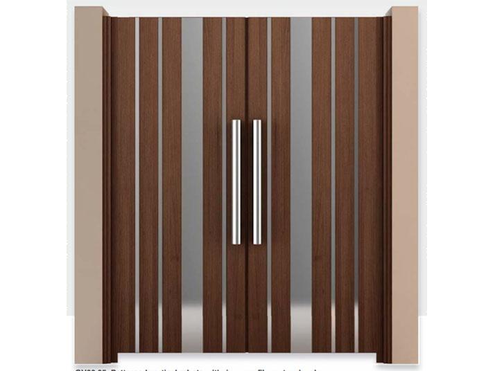 cancello alluminio bande verticali