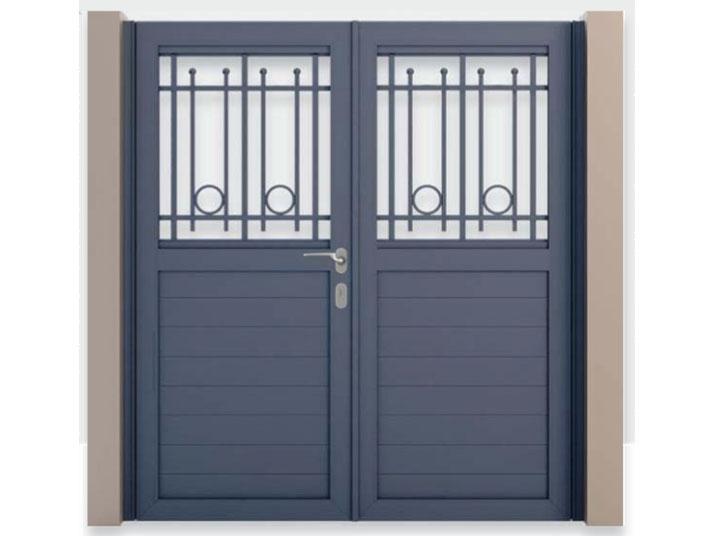 cancello alluminio verniciato matina