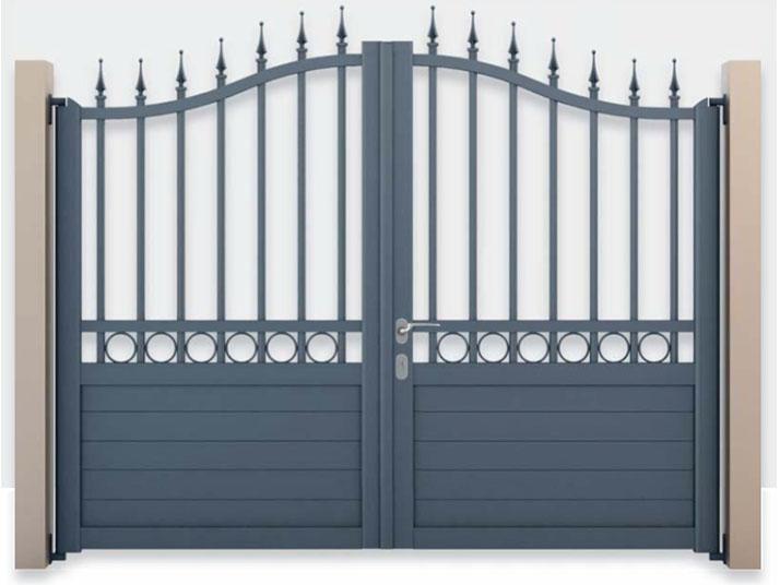 cancello alluminio verniciato